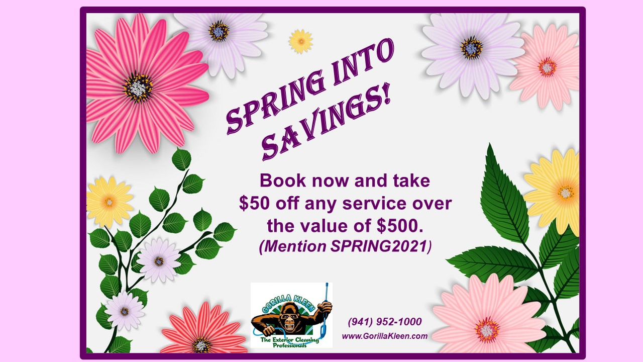 Spring Cleaning - $50 off any service over $500